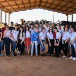 Jovens aprendizes conhecem o  funcionamento do aterro sanitário