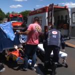 Motociclista sofre laceração na perna após acidente na PR-323