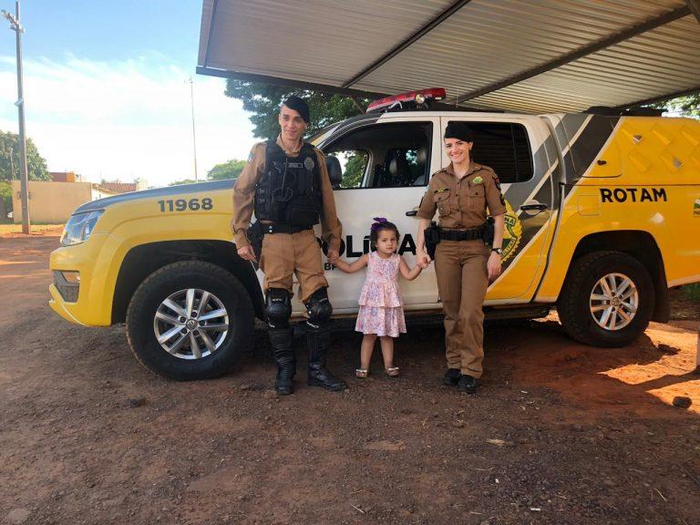 'São meus anjos' diz criança que realizou sonho de conhecer a PM em Umuarama