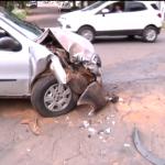 Mulher fica ferida após acidente no centro de Umuarama
