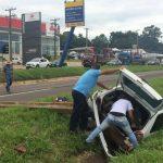 Mulher fica ferida após acidente na PR-323, em Umuarama