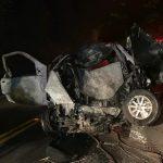 Três homens morrem carbonizados após acidente com veículo furtado na PR-082