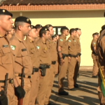 Policiais militares e lideranças políticas comemoram aniversário do 25º Batalhão de Umuarama