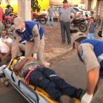 Dois homens ficam feridos após acidente no parque Dom Bosco