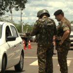 Exército realiza operação de combate a produtos ilícitos na PR-323