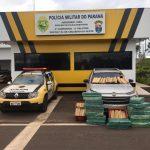 PRE de Cruzeiro do Oeste apreende 380 quilos de maconha