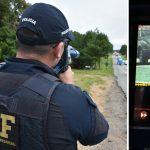 Radar da PRF flagra carro a 200 km/h no oeste do Paraná
