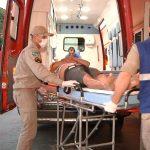 Idosa fica ferida após ser atropelada por moto na PR-580
