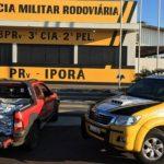 PRE apreende agrotóxicos contrabandeados na PR-323, em Iporã