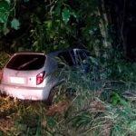 Motorista perde o controle da direção e bate contra árvore na PR-082