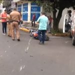 Homem sofre ferimentos graves após acidente no centro de Umuarama