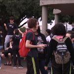 Manifestantes fazem ato no centro de Umuarama contra reforma da previdência