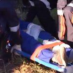 Jovem sofre fratura exposta após acidente na PR-323