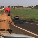 Carro é flagrado a 166 km/h na PR-323, em Umuarama
