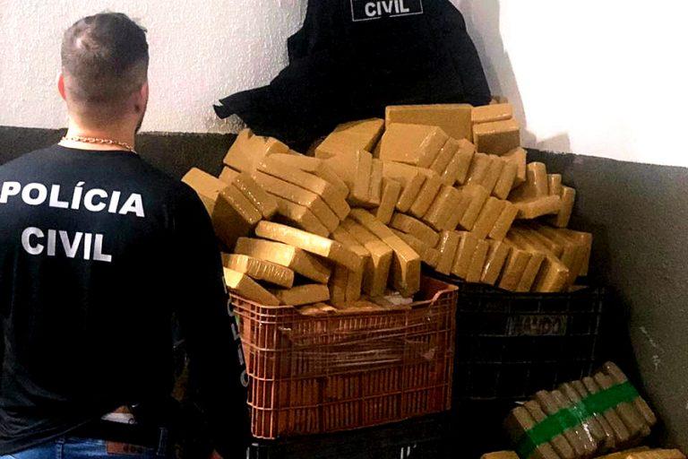 Polícia Civil apreende 7,7 toneladas de maconha em quatro dias