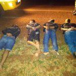 Quatro suspeitos são presos na PR-323 depois de roubo a mão armada