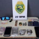 Ação da PM resulta na prisão de dois suspeitos de tráfico de drogas em Umuarama