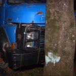 Caminhoneiro embriagado colide veículo contra árvore em Umuarama