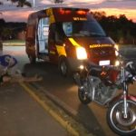 Homem sofre ferimentos na cabeça após queda de motocicleta em Umuarama