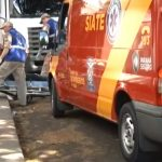 Homem fica ferido após sofrer queda de motocicleta em Umuarama