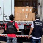 Polícia apreende caminhão com cigarros contrabandeados
