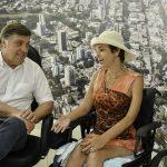 Cadeirante agradece ao município por execução de obras de acessibilidade