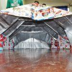 Estudantes desenvolvem abrigo inovador para moradores de rua