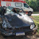 Duas pessoas ficam em estado grave após acidente na BR-487