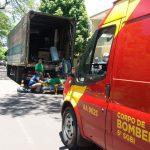 Trabalhador sofre trauma leve na cabeça após cair de caminhão em Umuarama