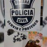 GDE da Polícia Civil prende homem por tráfico de drogas em Umuarama