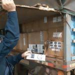 PRF apreende carreta bitrem com 700 mil carteiras de cigarro na BR-277