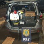PRF apreende escopeta e maconha após perseguição na BR-277