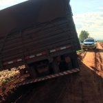 Caminhão furtado em Douradina é recuperado pela PM em Iporã