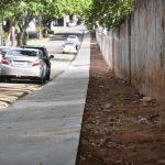 Calçada revitalizada do Estádio Lúcio Pipino já é utilizada pela população
