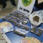PM prende dupla suspeita de tráfico de drogas no parque Dom Pedro II