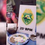 Suspeito de traficar drogas no 28 de Outubro é encaminhado para a delegacia