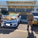 PRE de Iporã apreende veículo com quase 200 quilos de maconha na PR-323