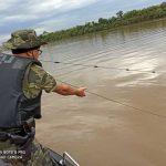 Polícia Ambiental apreende material usado para pesca predatória no Rio Ivaí