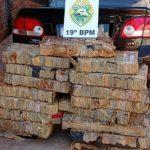 Mais de 260 quilos de maconha são apreendidos pelo 19º Batalhão em Palotina