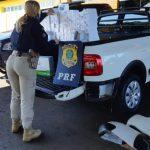 PRF prende ex-policial transportando celulares em compartimento oculto no Paraná