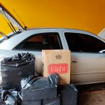 Polícia apreende carro com cigarros contrabandeados em Marechal Cândido Rondon