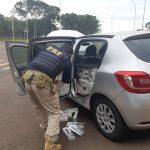 PRF apreende carro carregado com cigarros contrabandeados em Mercedes
