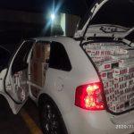 Veículo abarrotado de cigarros contrabandeados é apreendido pela PRF na BR-369