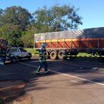 Acidente entre caminhão e quatro carros deixa quatro feridos na PR-323, em Umuarama