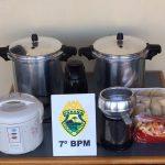 Dupla furta alimentos de escola municipal e acaba presa pela PM em Cruzeiro do Oeste