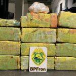 BPFron apreende três armas de fogo e mais de 220 quilos de maconha e haxixe
