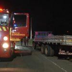 Princípio de incêndio em caminhão mobiliza equipe do Corpo de Bombeiros no São Cristóvão