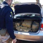 Após fuga, PRF apreende veículo com quase 300 quilos de maconha em Guaíra