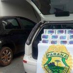 Homem é preso ao oferecer dinheiro a policiais militares para passar com contrabando em Goioerê