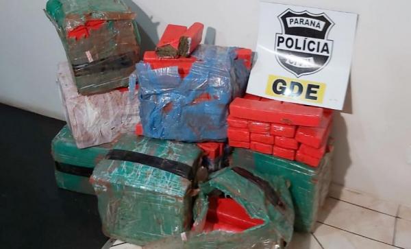 Pai e filho são presos com 180 quilos de maconha em Foz do Iguaçu